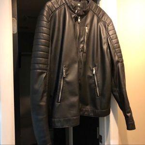NWOT XL Men's almost leather H&M biker jacket